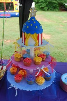 Circus Tent And Cupcakes.... on Cake Central