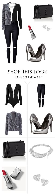 """Untitled #296"" by mariafilomena471 ❤ liked on Polyvore featuring T By Alexander Wang, Steffen Schraut, Kendall + Kylie, Yves Saint Laurent, Messika, Burberry and Vivienne Westwood"