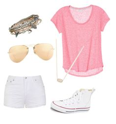 """Summer"" by brenna-mccarty on Polyvore featuring beauty, Ally Fashion, Converse, Ray-Ban, Kendra Scott and Aéropostale"