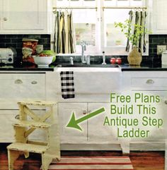 The Homestead Survival   Antique Kitchen Step Stool DIY Building Plans   http://thehomesteadsurvival.com