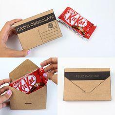 Carta Chocolate para presentear com Kit Kat na Páscoa!