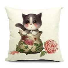 Retro Kitten Cushion/Pillow Covers