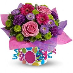 Price:  US$49.99  Flowers and presents make festive gifts, especially when they are paired together!