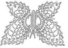 FREE DIAGRAM ~ crochet butterflies, more ideas - crafts ideas - crafts for kids Crochet Butterfly Pattern, Crochet Birds, Crochet Art, Knit Or Crochet, Filet Crochet, Crochet Motif, Irish Crochet, Crochet Crafts, Crochet Doilies