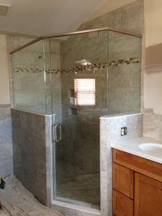 frameless glass shower walls and mounts angle shower door is rh pinterest fr