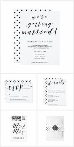 Geometric black and white heart Bridal Companies Wedding