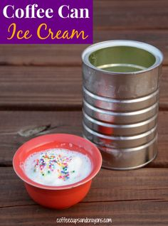 How to Make Ice Cream in a Coffee Can! Tin can ice cream is a great summer activity for kids! How to Make Ice Cream in a Coffee Can! Tin can ice cream is a great summer activity for kids! Coffee Drinks, Coffee Cans, Iced Coffee, Coffee Ice Cream, Espresso Coffee, Cool Science Experiments, Make Ice Cream, Summer Activities For Kids, Learning Activities