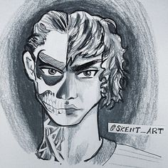 Evan Peters / Tate ~ American Horror Story, Murder House ~ colored pencil and ink drawing, cartoon / anime Me Anime, Evan Peters, American Horror Story, Real People, Caricature, Colored Pencils, Cool Art, Ink, Fine Art