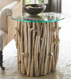 Tree branches coffee table