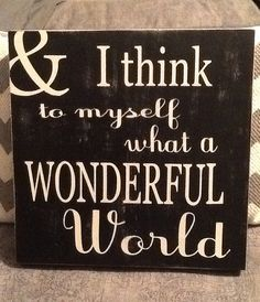 What a wonderful world by HomeDco on Etsy, $26.50