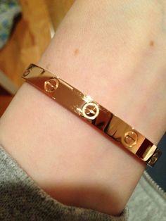 Yesterday, I got a YG Love bracelet diamonds which I adore. Braclets Gold, Mens Gold Bracelets, Gold Bracelet For Women, Cartier Love Bracelet, Bracelets For Men, Gold Jewelry, Jewelry Box, Jewellery, Cartier Gold
