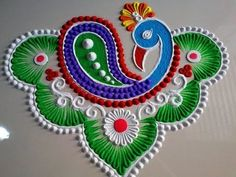 Here is a simple freehand diwali special flower rangoli design for Diwali. It is based on one of my original rangoli designs and I have tried to do some inno.