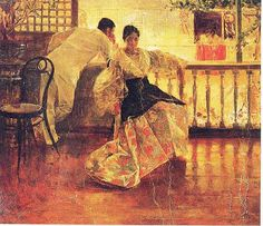 Tampuhan by Juan Luna. Tampuhan is a 1895 classic oil on canvas painting. It depicts a Filipino man and a Filipino woman having a lovers' quarrel. Arte Filipino, Filipino Culture, Cultura Filipina, Philippine Art, Philippine Fashion, Philippines Culture, Save My Marriage, Traditional Paintings, Traditional Art