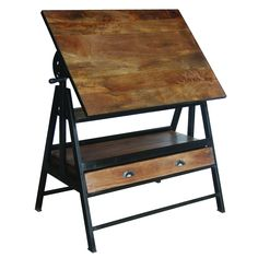 Iron Wooden Drafting Table