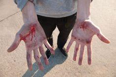 Hard work  Flo Mirtain bleedinghands Texas March2013 ©barton
