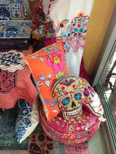 Pillows Dia de los Muertos skull
