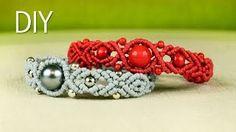 macrame bracelets and necklaces tutorials - YouTube