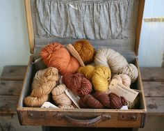 Trunk...filled w/Yarn......Save those Antique Trunks