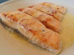 Lemon Butter Sauce Salmon Lemon Butter Sauce, Free Food, Salmon, Ethnic Recipes, Atlantic Salmon, Trout
