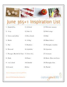 2012-6 JUne 365 Idea List