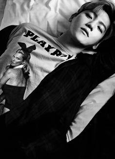 Byun Baekhyun | black and white