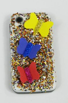 We are providing you the inexpensive & cheap mobile décor ideas that can convert the back side of your mobile similarly like a decorative & expensive mobile case. Diy And Crafts, Diy Projects, Butterfly, Ideas, Decor, Decoration, Dekoration, Bowties, Inredning