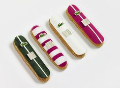Lacoste 80th Anniversary - Fauchon's eclairs for Lacoste #luxury #fauchon #lacoste #cake #cobranding