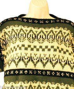 Label: Nordic Knit, Wool, Handmade in Norway Norwegian Knitting, Nordic Sweater, Wool Sweaters, Norway, Skiing, Christmas Sweaters, Crochet Top, Label, Handmade