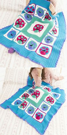 Lucky Ladybug Throw Blanket Free Crochet Pattern