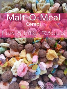 There are a lot of fun treats you can make with cereal. Here are 5 simple and tasty recipes!