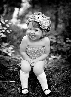 Vintage feel photograph. Makes me wonder what caused her to laugh like that!