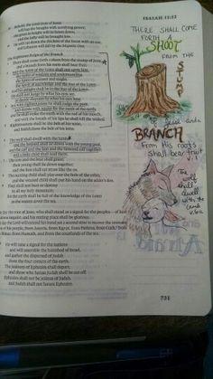 Isaiah 11 Bible Journaling
