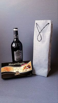 Faltentasche als Flaschentasche - die Geschenkidee