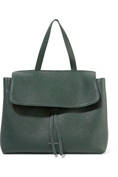 Mansur Gavriel - Lady Tumbled-leather Tote - Dark green - one size