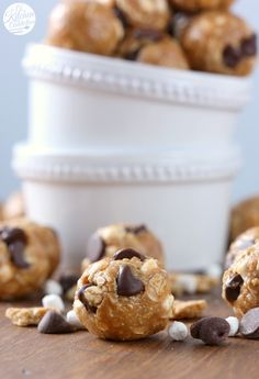 Easy Peanut Butter Smores Granola Bites Recipe from A Kitchen Addiction