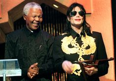 Micheal Jackson in Africa with Nelson Mandella