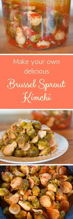 Make your own delicious spicy fermented Brussel Sprout Kimchi Fermented Hot Sauce Recipe, Kombucha Recipe, Hot Sauce Recipes, Raw Food Recipes, Sauerkraut Recipes, Cabbage Recipes, Superfood, Asian Appetizers, Cooking