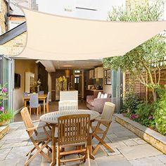 Greenbay Sun Shade Sail Garden Patio Party Sunscreen Awning Canopy 98% UV Block Square Cream (3x3m): Amazon.co.uk: Garden & Outdoors