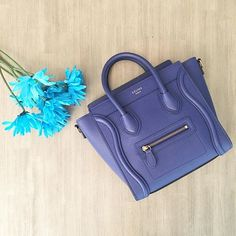 Blue bags and flowers