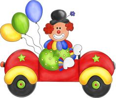 Free Transparent PNG files and Paint Shop Pro Tubes: Clown in Car with Balloons