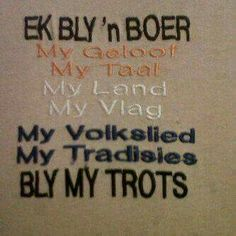 Ek bly ń boer Jokes Quotes, Wisdom Quotes, Africa Symbol, South African Flag, Inspirational Quotes For Girls, Afrikaanse Quotes, Sweet Love Quotes, Life Rules, African History