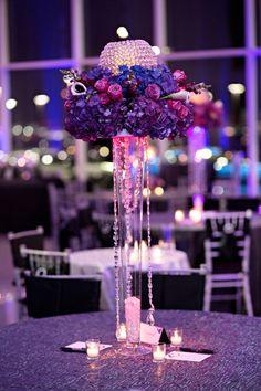 Hydrangea, Rose, Candle Centerpiece | Kristen Weaver Photography