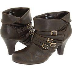 Madden Girl's Singsing booties in brown. $46.25 on sale.