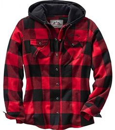 Legendary Whitetails Women's Grand Wood Plaid Hoodie Buffalo Plaid