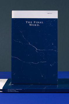 Stahl R Design Berlin / Royal College of Art / Communication Visuelle / The Final Word Book Print Layout, Layout Design, Print Design, Menu Design, Ex Libris, Book Cover Design, Book Design, Branding, Brand Identity