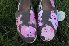 Pigs Original Custom Acrylic Painting for by SomethingFromTheSun, $65.00  So cute! @Melanie Sinclair