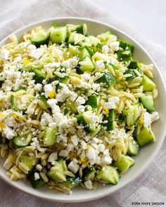 Lemon orzo with mint and feta. This is BRILLIANT. I leave out the cucumbers because the rest of flavors drown it out, and the crunch is really more of a distraction than an addition. I could eat this everyday. Another staple to add to my easy-and-delicious list.