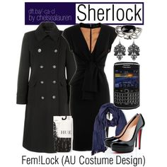 Girl Sherlock outfit (by chelsealauren on Polyvore)