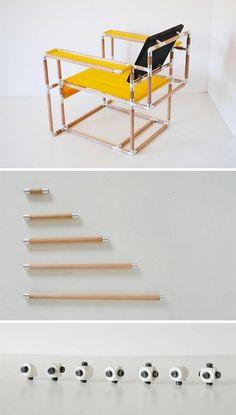 Sistema para crear muebles muy ingenioso