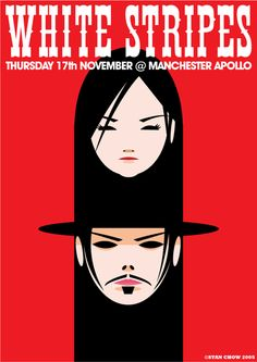 The White Stripes | Manchester Apollo 2005 | Design: Stan Chow